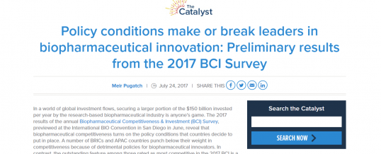 Preliminary BCI 2017 Results and New Impact Analysis Published